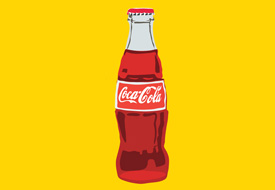 Coca cola bottle vector illustration