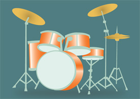 Drums free vector illustration