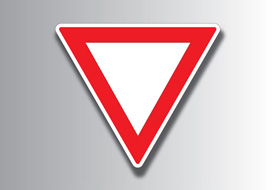 Give way line free vector sign