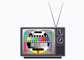 Old television vector illustration
