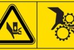 Hand damage danger - warning factory signs