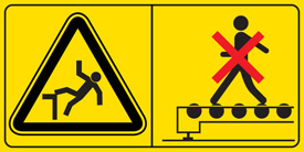 Warning factory signs