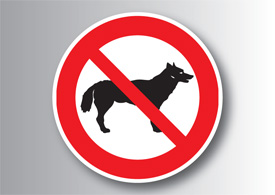 No dogs allowed vector sign