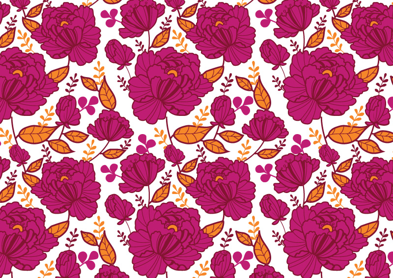 nice free vector floral pattern   free vectors download