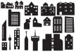 City buildings set thumbnail