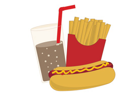 Fastfood free vector illustration thumb