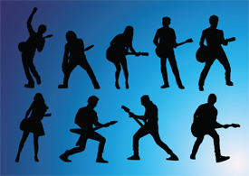 Guitarists silhouettes thumbnail