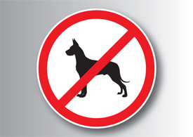 No dogs sign free vector illustration thumb
