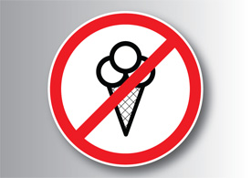 No ice cream allowed sign - thumbnail