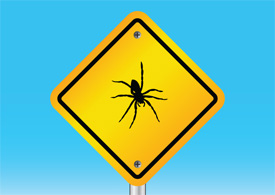 Spider warning sign free vector illustration thumb