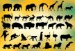 37 animal silhouettes - thumb
