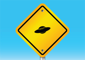 Beware of ufo sign free vector illustration thumb