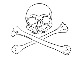 Line art skull free vector illustration thumb