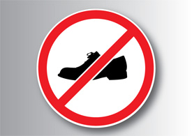 No shoes sign free vector illustration thumb