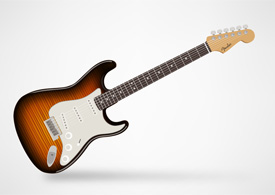 Fender Stratocaster - electric guitar free vector