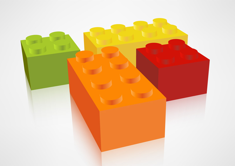 Lego cubes icon - download free vector illustration
