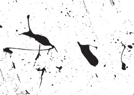 Grunge ink splashes free vector art - thumb