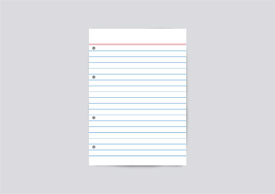 Note paper free vector art - thumb