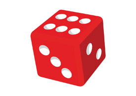 Red dice 3d free vector clipart - thumb