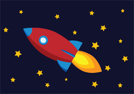 Rocket free vector illustration - thumb