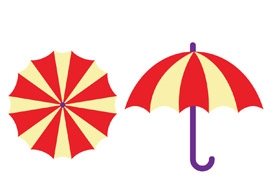 Umbrella free vector art - thumb