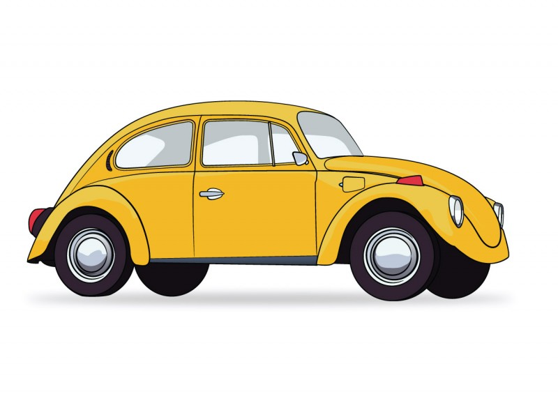 Volkswagen beetle - download free vector art