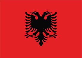 Free vector flag of Albania