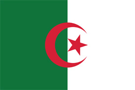 Free vector flag of Algeria