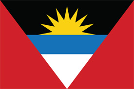 Free vector flag of Antigua and Barbuda