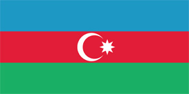 Free vector flag of Azerbaijan