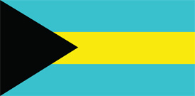 Free vector flag of Bahamas