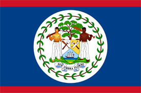 Free vector flag of Belize