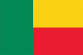 Free vector flag of Benin
