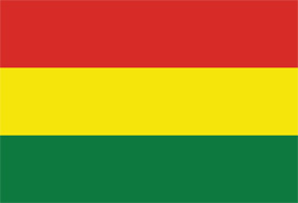Free vector flag of Bolivia