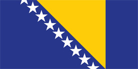 Free vector flag of Bosnia and Herzegovina