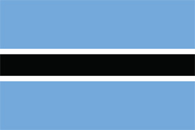 Free vector flag of Botswana