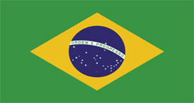 Free vector flag of Brazil
