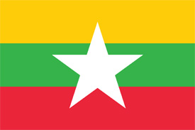 Free vector flag of Burma