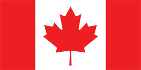Free vector flag of Canada