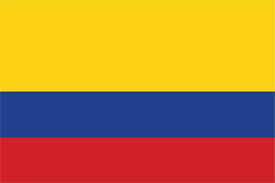 Free vector flag of Colombia