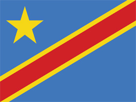 Free vector flag of Congo
