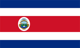 Free vector flag of Costa Rica