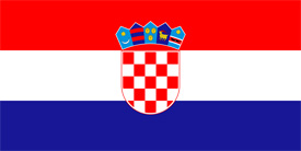 Free vector flag of Croatia