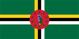 Free vector flag of Dominica