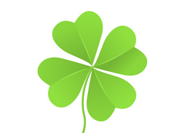 Four leaf clover vector illustration isolated on white background