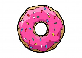 Free vector donut drawing