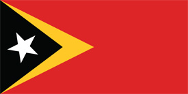 Free vector flag of East Timor