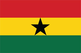 Free vector flag of Ghana
