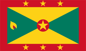 Free vector flag of Grenada