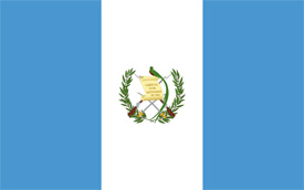 Free vector flag of Guatemala